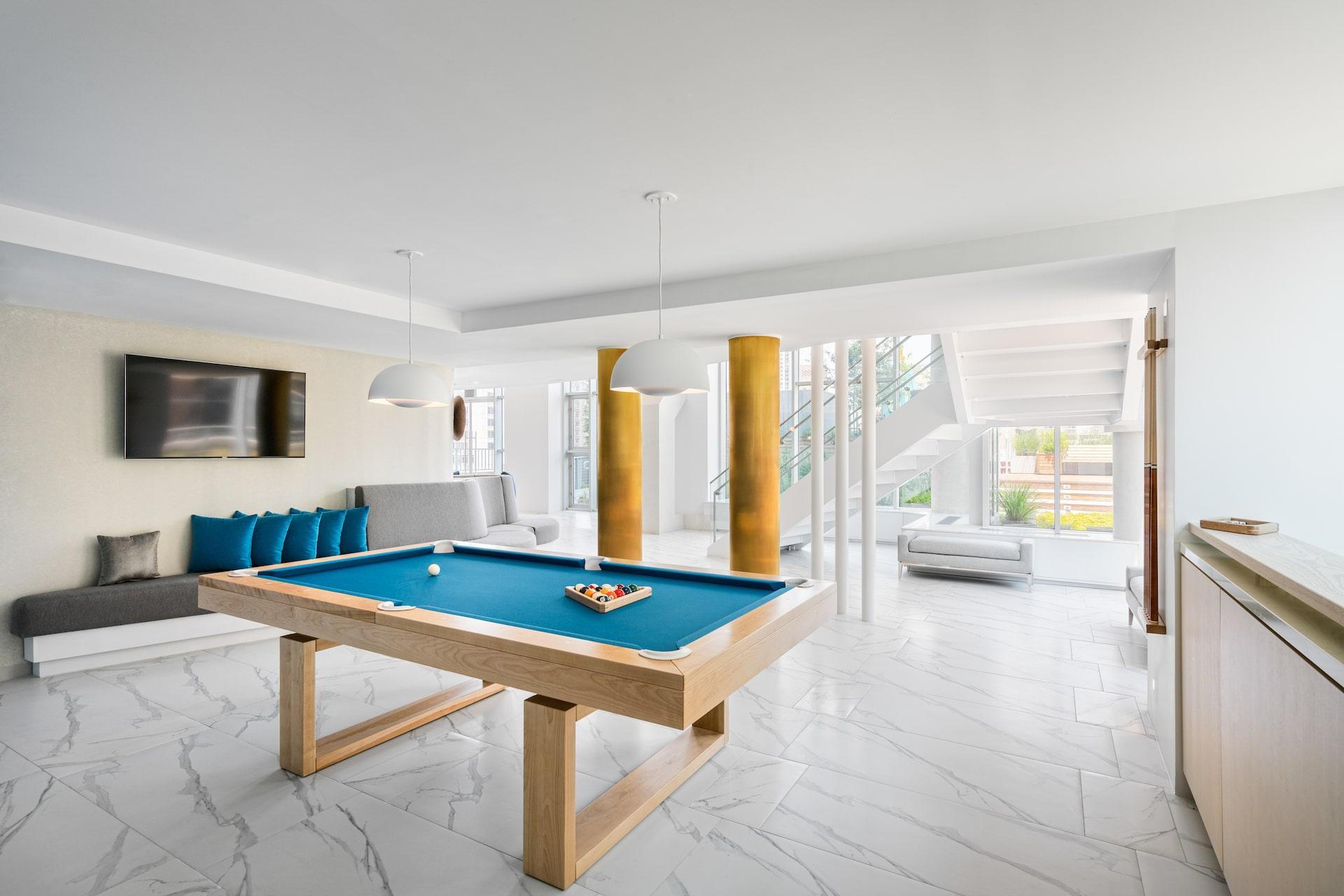 101 West End Avenue Amenities billiards